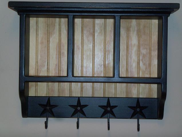Black Cubby with Star Hooks