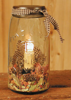 Quart Mason Jar Light