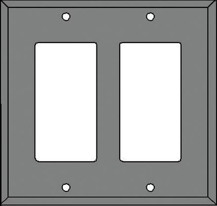 DOUBLE ROCKER SWITCH COVER DESIGNATOR (DR)